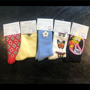 Urban Outfitters Men's Socks, NWT, 5 Pairs